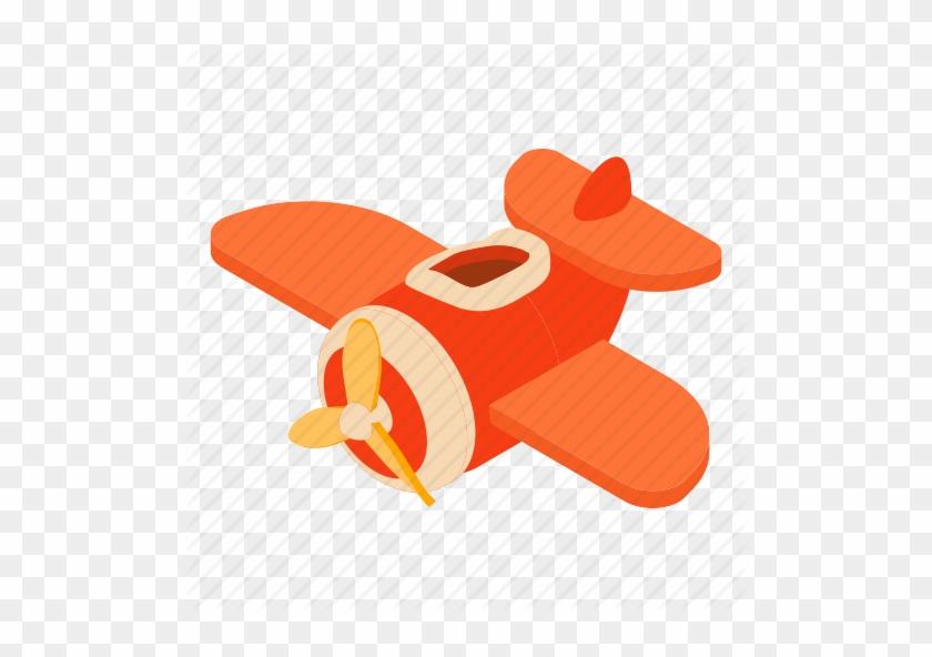 Airplane Cartoon Flight Fly Fun Plane Toy Icon Plane