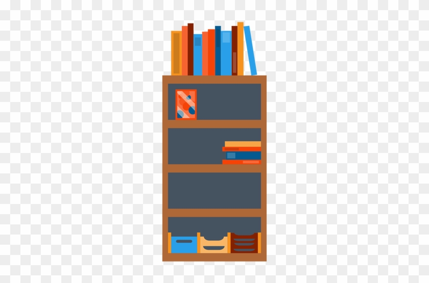 Bookshelf With Office Papers Clipart Transparent Png - Bookshelf Transparent #519439