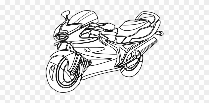 Motorcycle Coloring Pages For Kids. Free Printable | 413x840