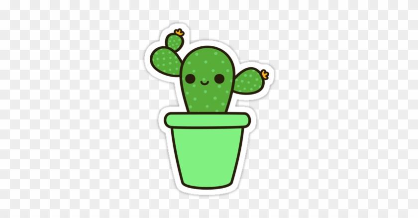 cute Cactus In Green Pot