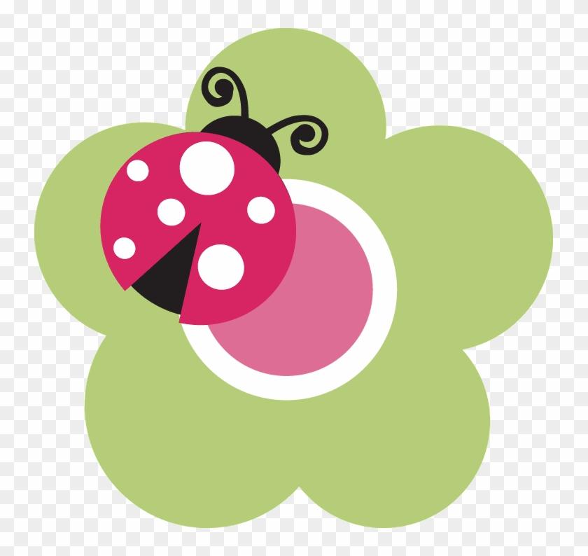 Clip Art Free - Ladybug On Flower Clipart #521999