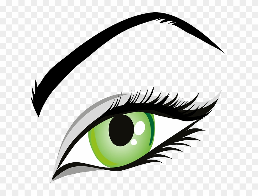 Eye, Green Eyes, Iris, Eyelid, Eyebrows, Brows, Seeing - Makeup Eye Clip Art #522911