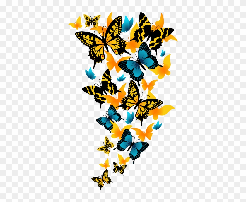 Wall Color - Beautiful Butterfly Png #522982