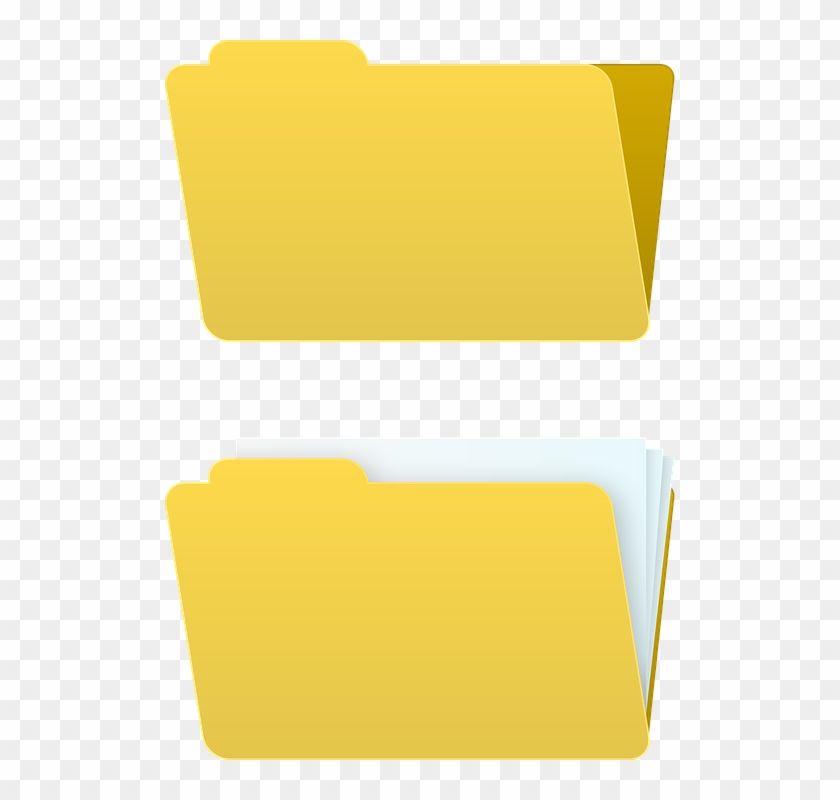 Microsoft Office Online Clipart 17, - Folder Full And Empty Icon #523059