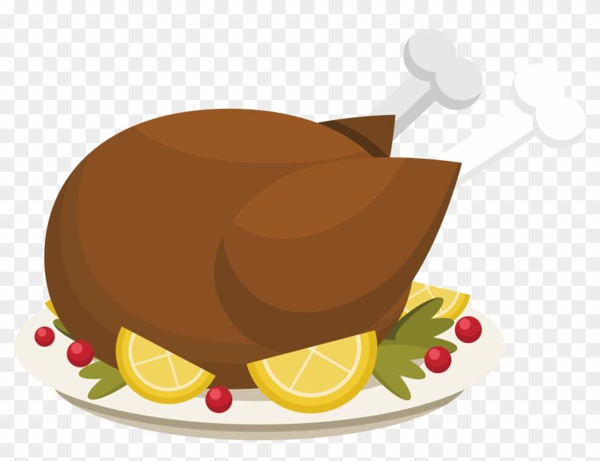 Roast Chicken Lemon Chicken Barbecue Chicken - Roasted Chicken Vector Png #523192