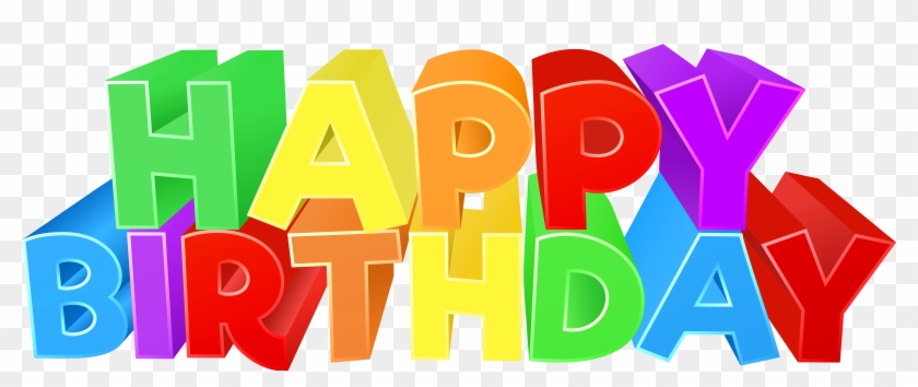 happy birthday colorful text png clip art image happy birthday png