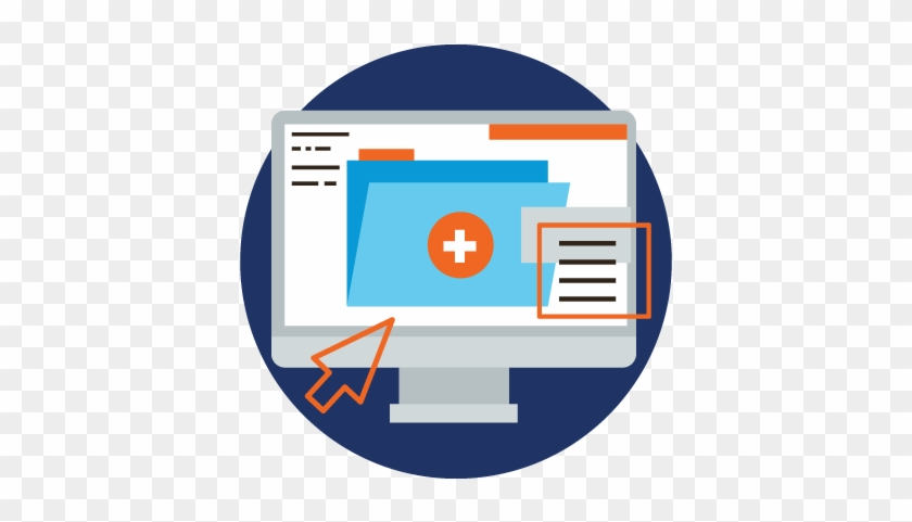 Computer, Ehr Emr, Electronic, Health, Medical, Patient, - Electronic Medical Record Icon #524907