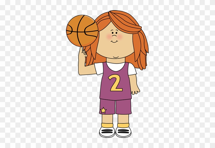 Sport Clipart Cute - Clip Art Girl Basketball #524926