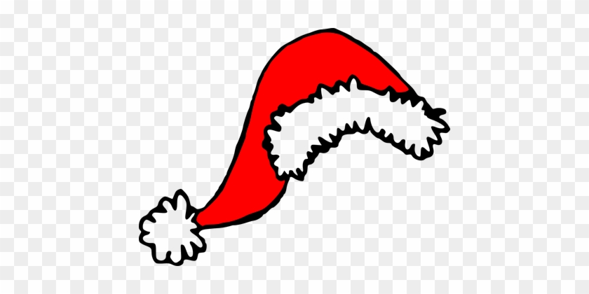 Santa Claus, Cap, Xmas, Hat, Christmas - Christmas Hat Clip Art #524929