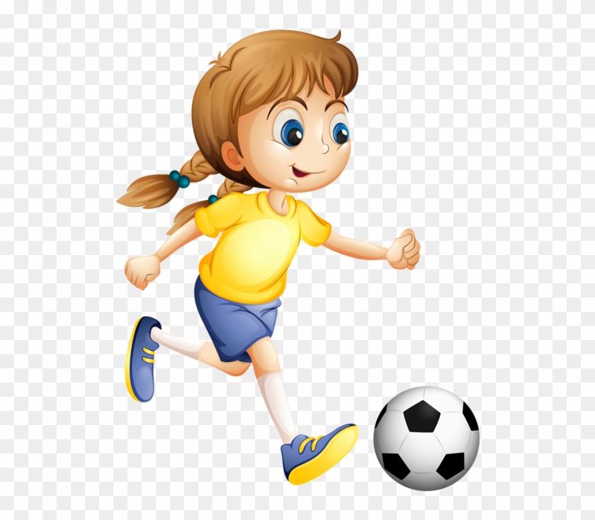 Sport Clipart Play Sport Dibujo Mujer Jugando Futbol Free Transparent Png Clipart Images Download