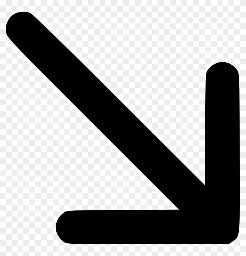 Direction Down Cross Cursor Missile Dart Comments - Arrow Pointing Diagonally Down #524987