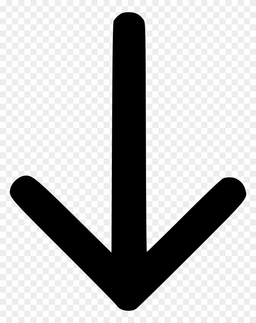 Direction Down Cursor Missile Dart Comments - Downward Arrow Svg #524991