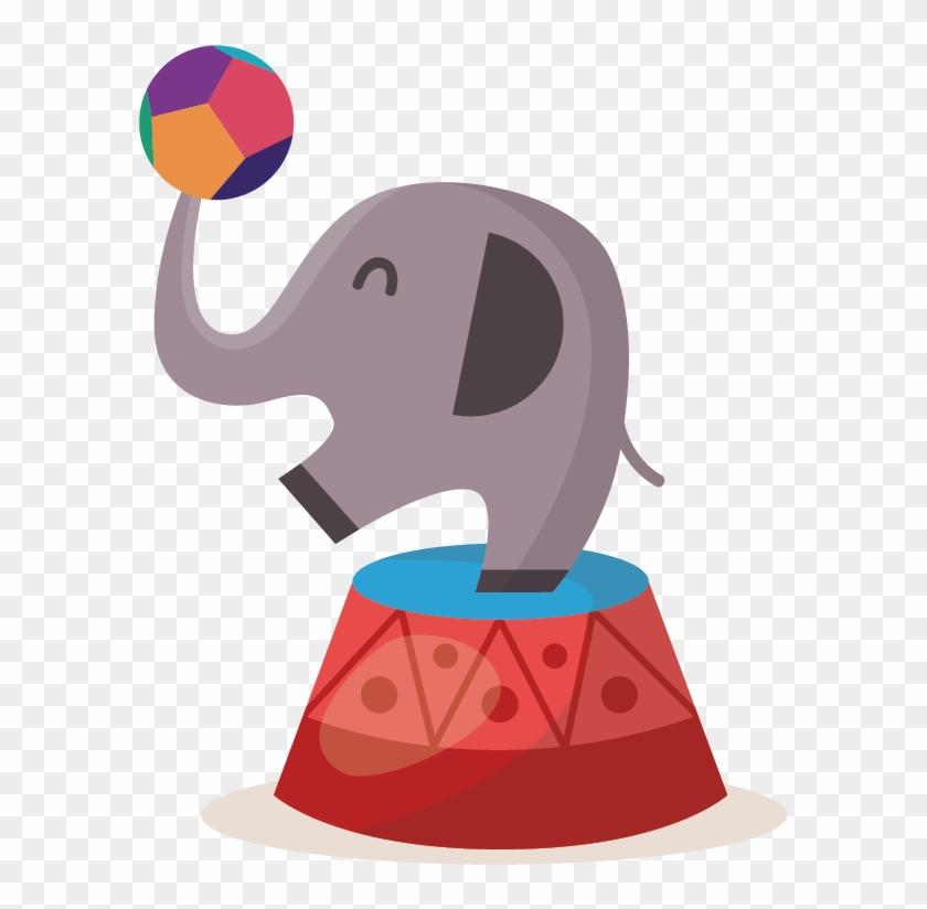 Circus Photography Illustration - Circus Illustration Elephant Png #525420