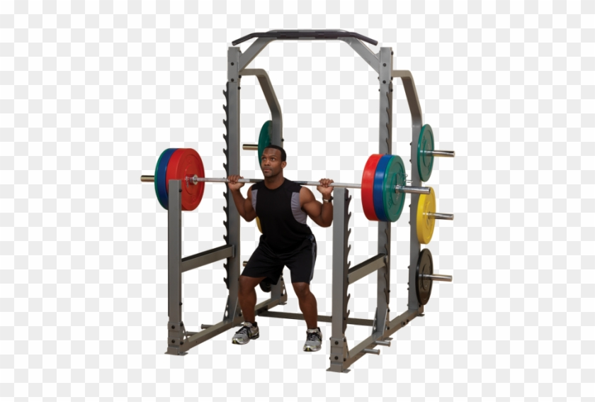 The Safeties Are Actually Adjustable As Well So People - Squat And Bench Rack #525783