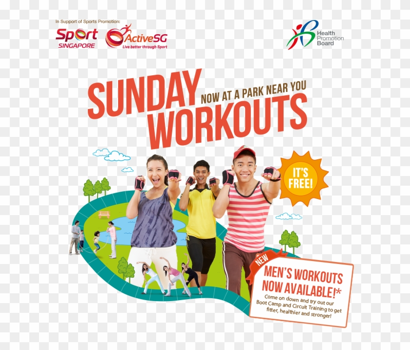 Get Active With Your Family And Friends Every Sunday - Health Promotion Board #525792