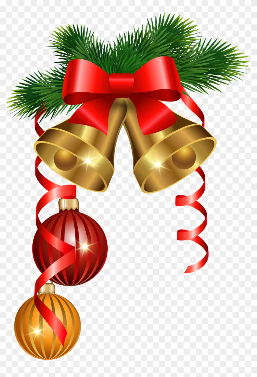 Bell Clipart Christmas Ornaments - Merry Christmas Decorations Png #526628