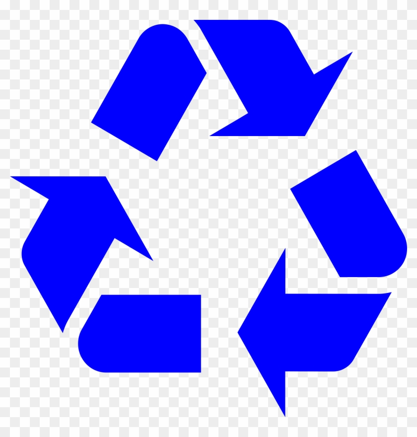 Recycle Symbol Cliparts 7 Recycling Symbol Blue Free