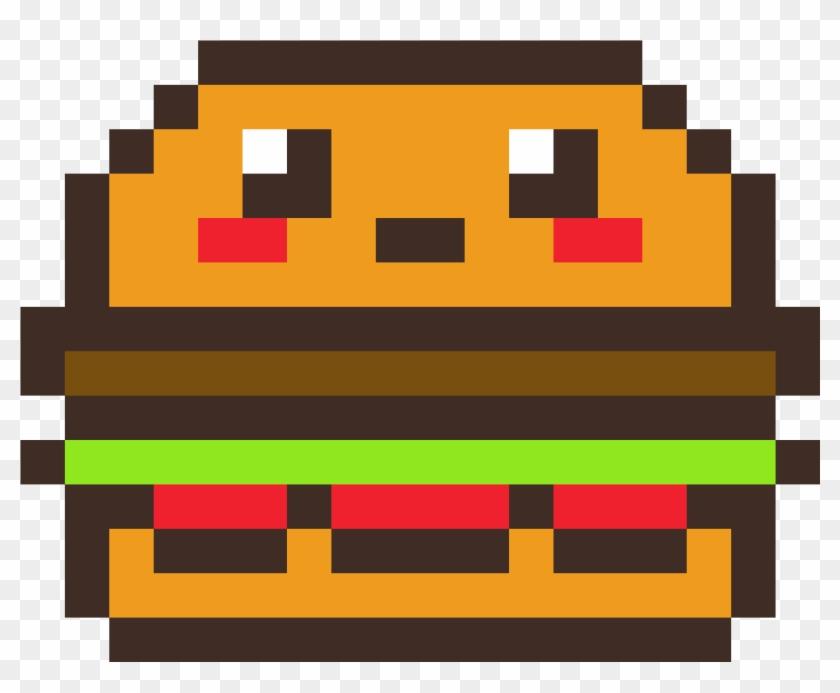 Pixel Art Hamburger Kawaii