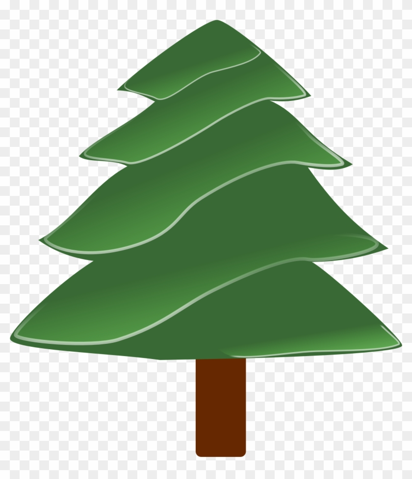 simple evergreen with highlights christmas coloring pine tree clip art