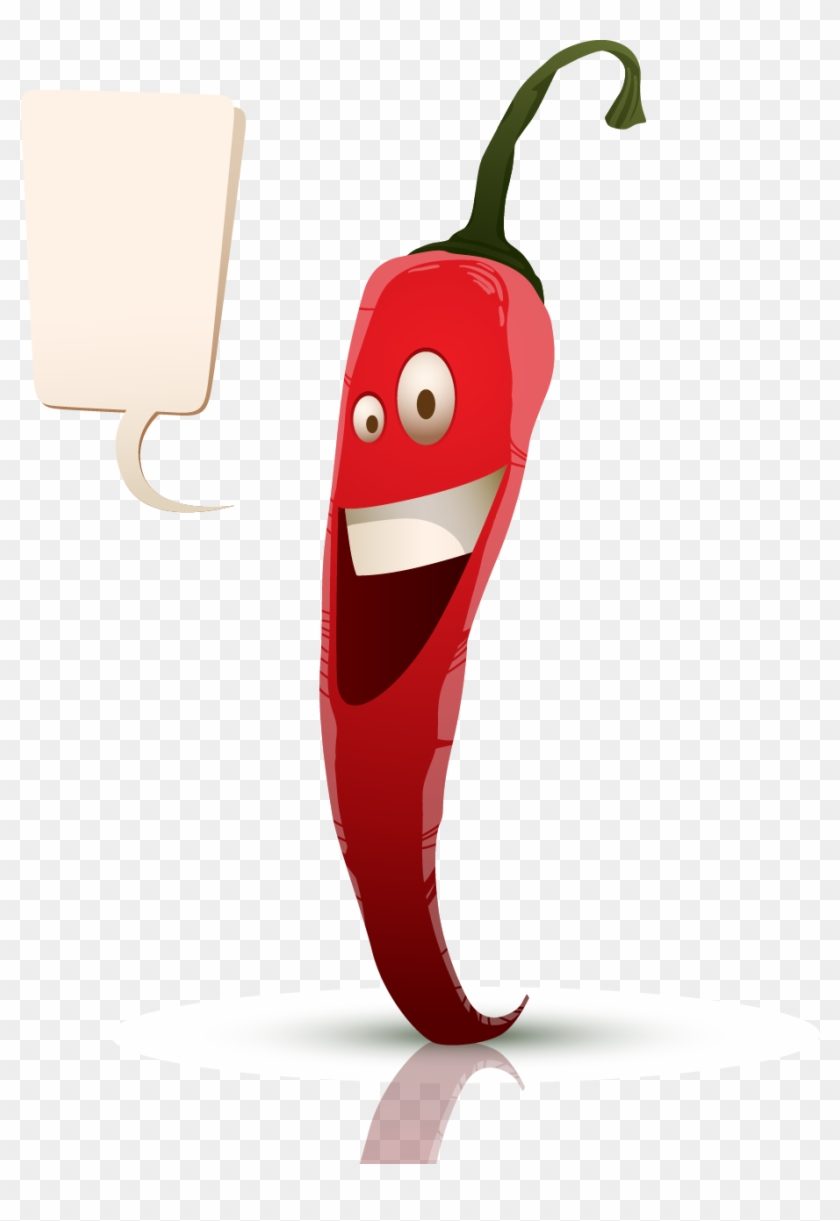 Chili Pepper Bell Pepper Pizza Cartoon Food - Sweet And Chili Peppers #527929