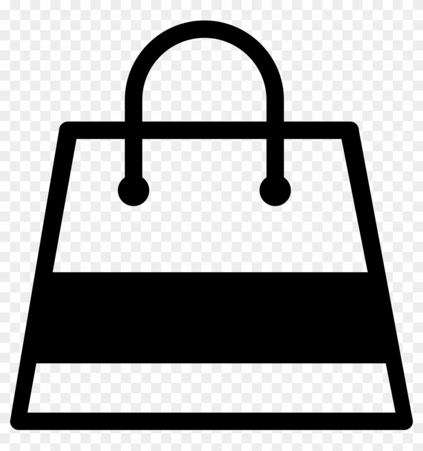 Shopping Bag With A Gross Stripe Comments Shopping Bag Icon Free