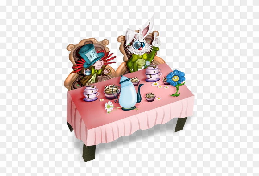 Alice In Wonderland Two Of Hearts - Tea Party #529571
