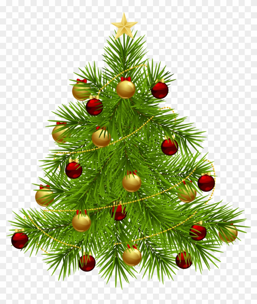Christmas Tree Clipart Transparent Background Ornaments