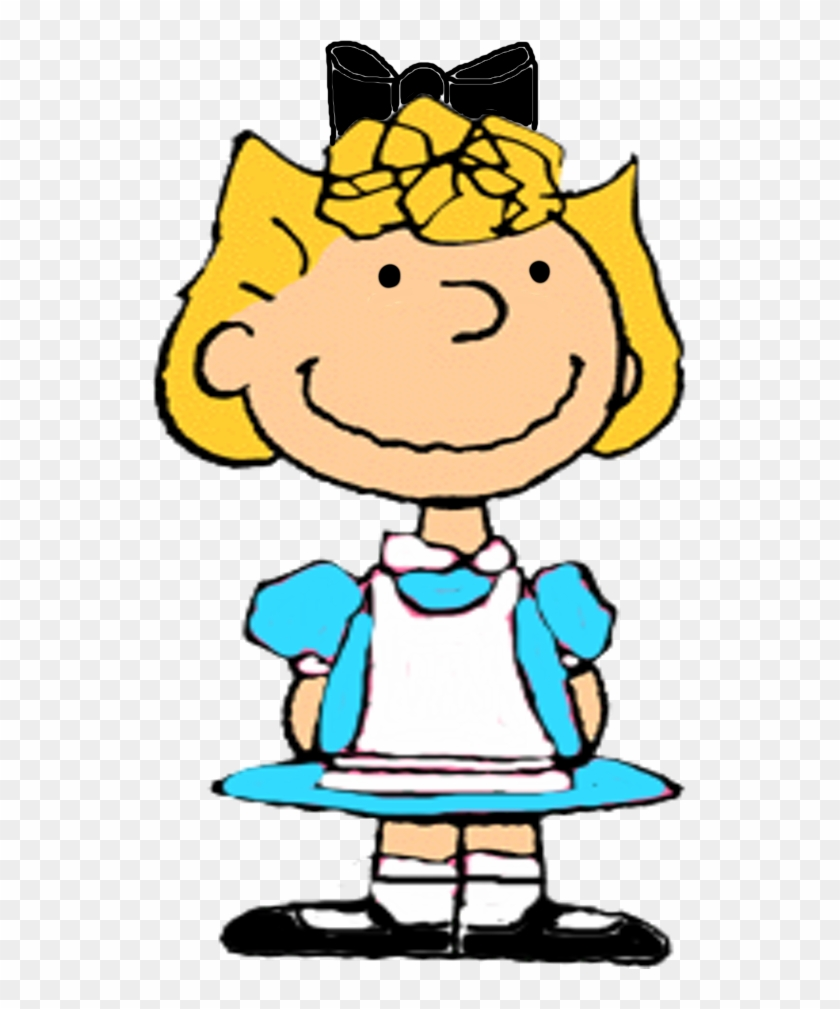 Peanuts Wallpaper Titled Sally As Alice