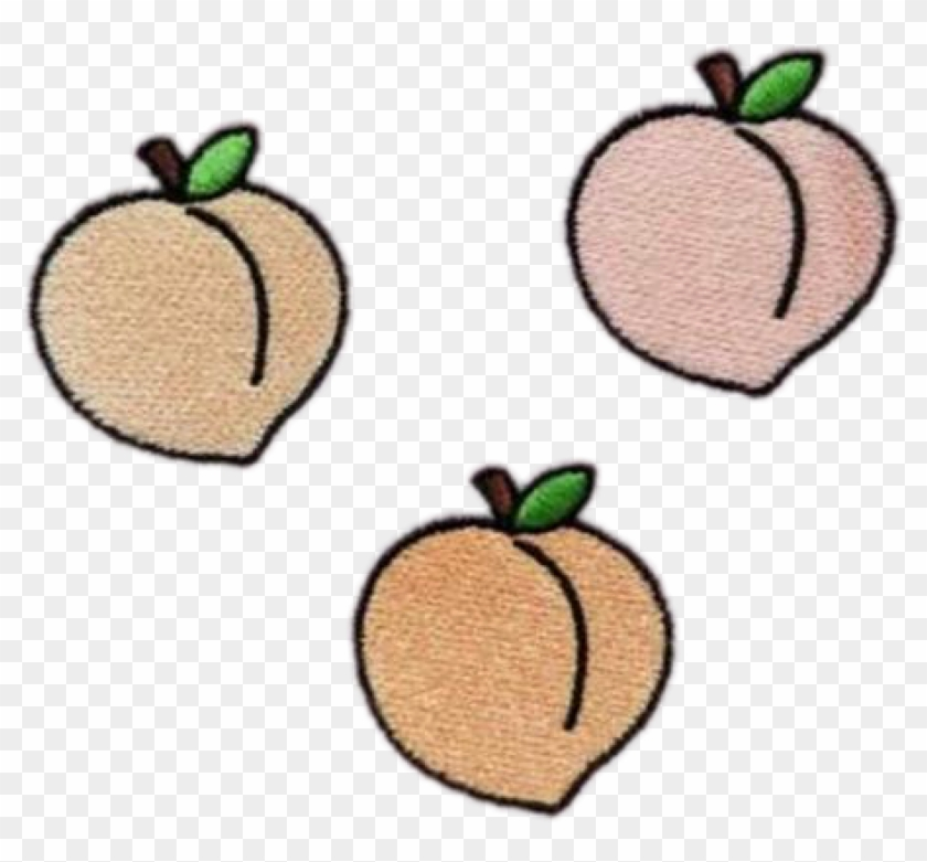 Peach Peachy Peaches Fruit Tumblr Patch Grunge Freetoed - Png Fruit #530865