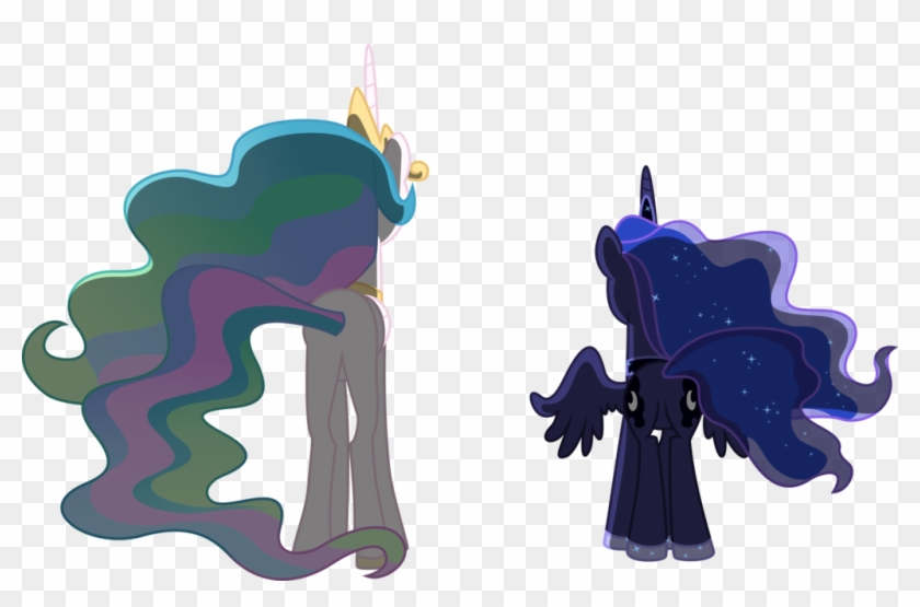 Celestia And Luna Contemplating By Jordila-forge - Princess Celestia And Luna Vector #531250