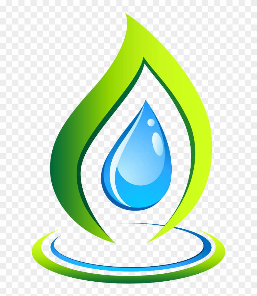 Drop Logo Leaf Recycling Symbol - Water Drop On Leaf Vector #531955