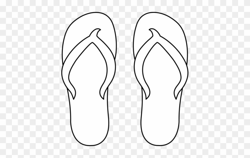 Image Of Clip Art Flip Flops Flip Flop Coloring Page Free