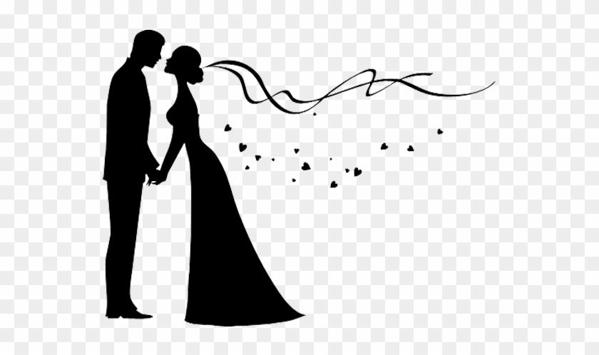 Bridegroom Wedding Invitation Silhouette - Wedding Couple Png Png #532624
