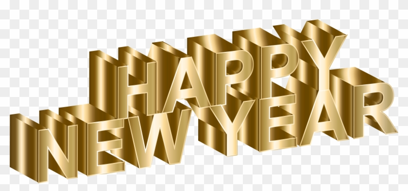 Gold New Year Clip Art - Happy New Year Png #532755