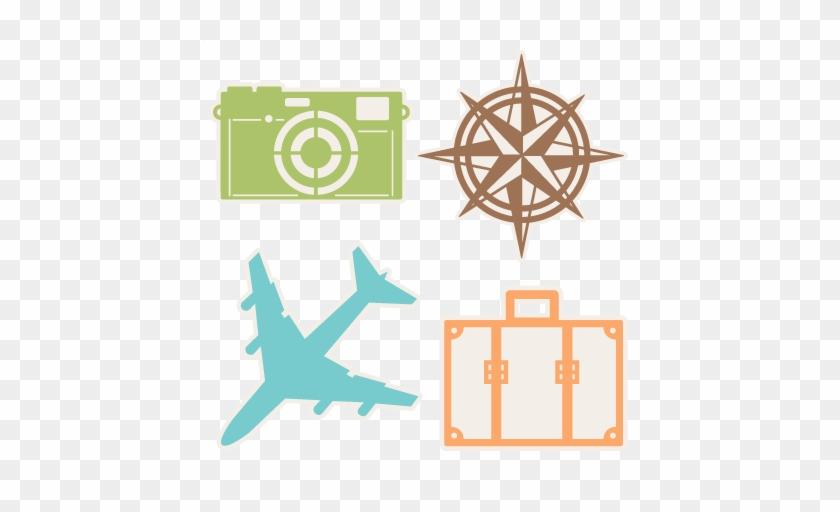 Travel Icons Set Svg Scrapbook Cut File Cute Clipart Travel