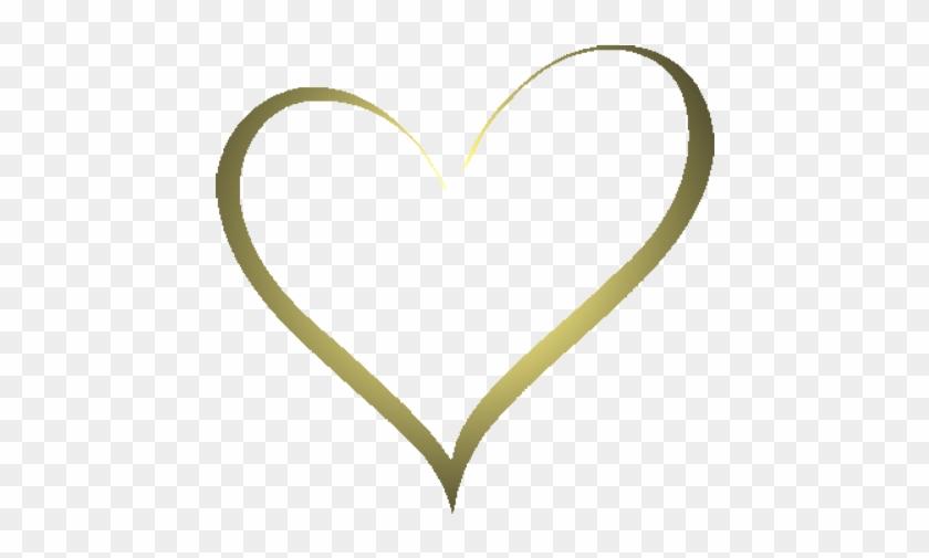 Heartshapegold2 - Heart Shape Gold Png #532941