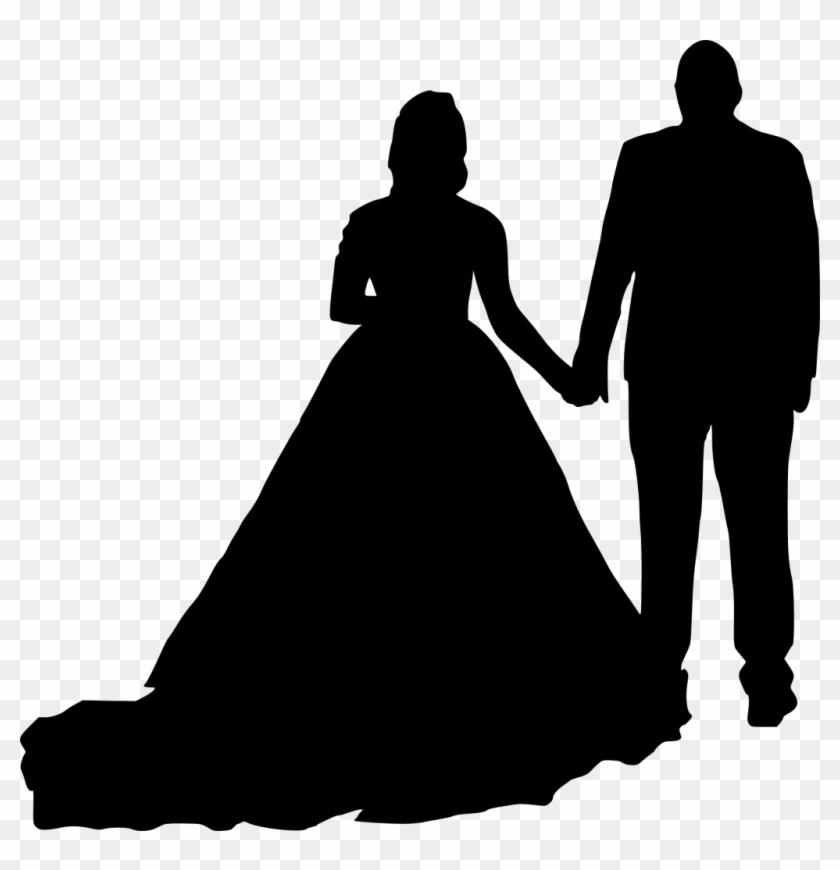 Wedding Invitation Silhouette Bridegroom Clip Art - Wedding Silhouette Png #532981
