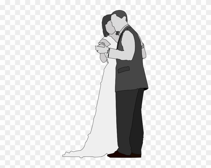 Dance Bride Groom Clipart Gambar Hitam Putih Pernikahan Free