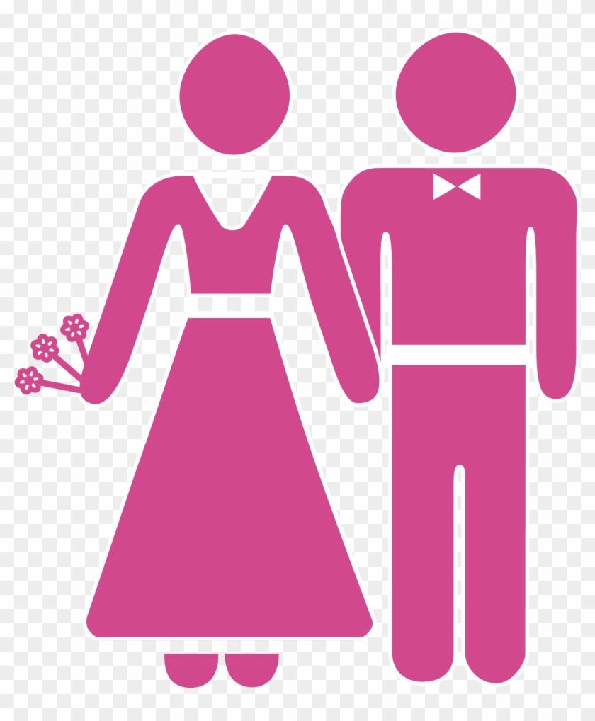 Wedding Invitation Marriage Icon - Bride And Groom Cartoon Icon ...