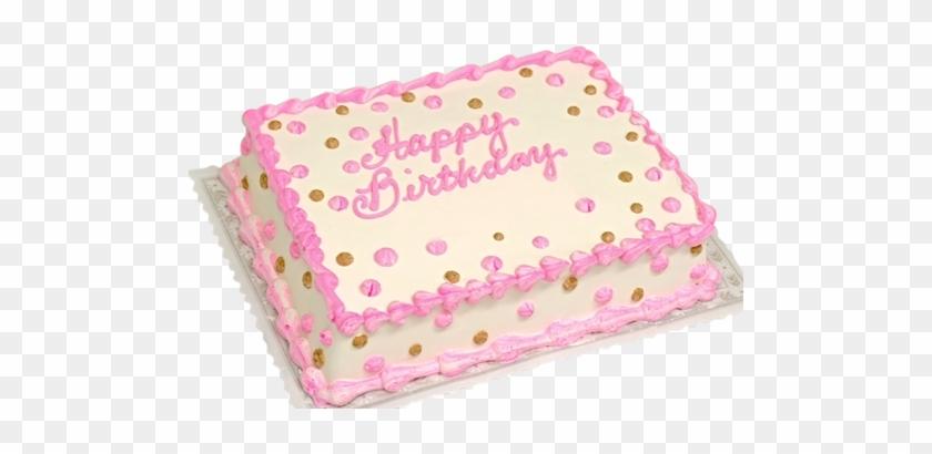 Sheet Cake Birthday Rosette Wedding
