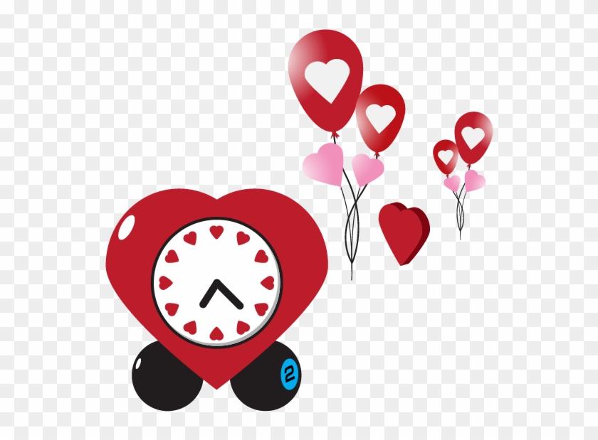 Valentines Day Heart Clip Art - Karte Liebe-sie Herz-uhrvalentines Tages #533048