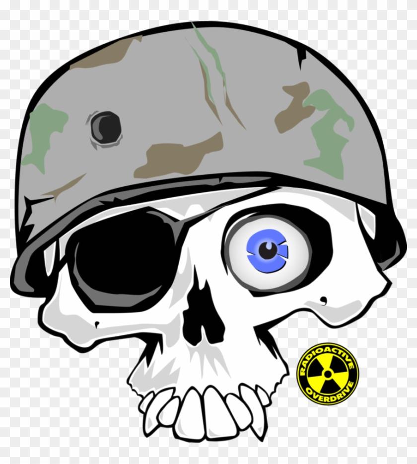 Skull With Helmet - Skull And Cross Bones King Duvet #533191