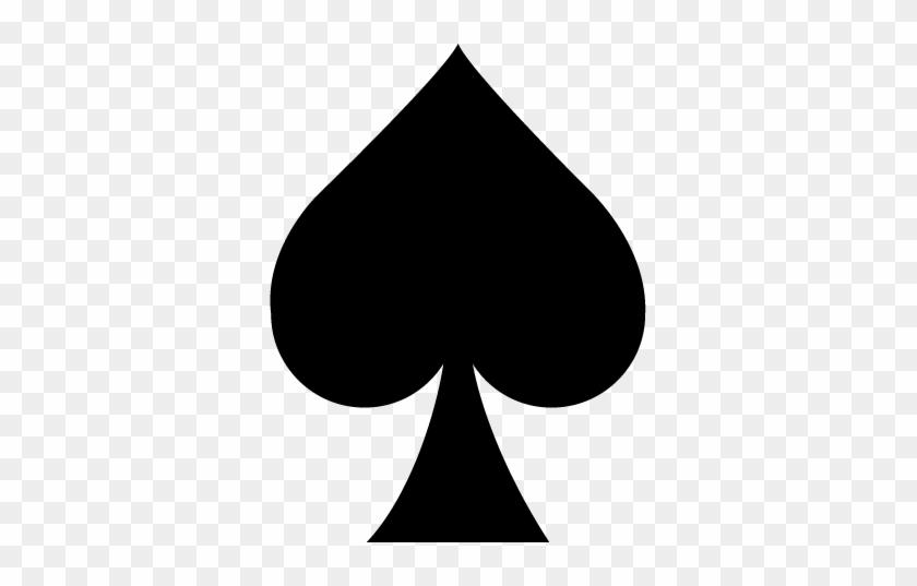 Bust Chip 1 - Deck Of Card Spades #533259
