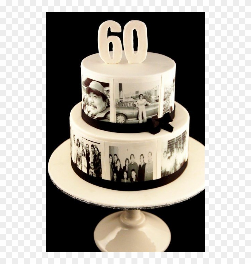 Phenomenal 2 Tier Memory Cake 60Th Birthday Cake Ideas Free Transparent Funny Birthday Cards Online Overcheapnameinfo