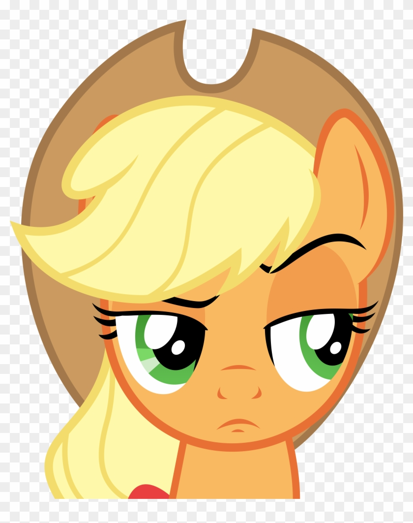 Applejack Anime Raised Eyebrow Free Transparent Png Clipart