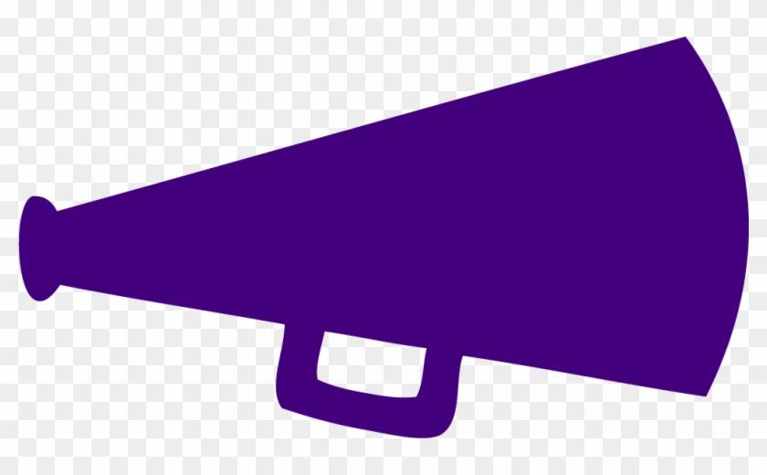 Cheer Megaphone Clipart - Purple Cheer Megaphone Clipart #533789