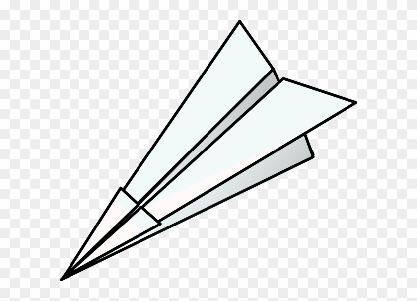 Toy Paper Plane Clip Art At Clker - Paper Airplane No Background #534216