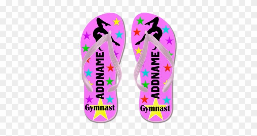 Gymnast Winner Flip Flops - Create Your Own Personalized Gymnast Winner Flip Flops #534600