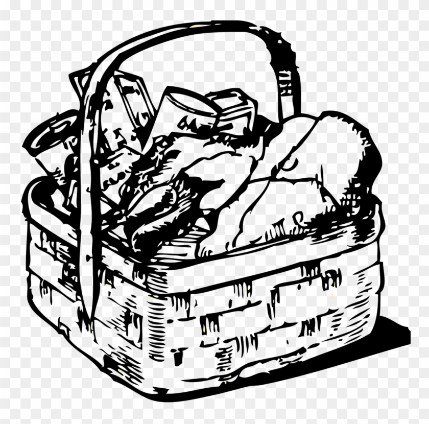 Food Gift Baskets Picnic Baskets Clip Art - Food Basket Clip Art #534900