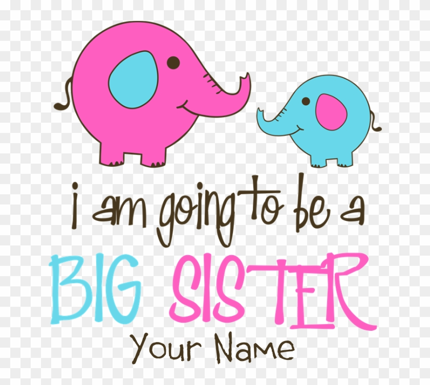 Favorite - Personalized Big Sister Elephant Picture Ornament #534911